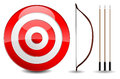 Arrows and target illustration background Stock Photos
