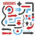 Arrows various direction pointing icons collection in different shapes