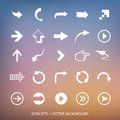 Arrows vector design elements signs and background Stock Photo