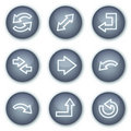Arrows web icons, mineral circle buttons series Royalty Free Stock Photos