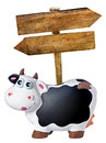Arrows Wooden Blabk Signs Piggybank Isolated Royalty Free Stock Photo