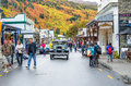 Arrowtown Autumn Festival on Buckingham Street. Royalty Free Stock Photo