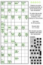 Arrowword clues in squares crossword puzzle or arrow word else real size answer included Stock Photography