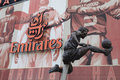 Arsenal Emirates Football Stadium - Dennis Bergkamp Royalty Free Stock Photo