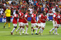 Arsenal goal celebration Royalty Free Stock Photo