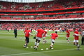 Arsenal Warm Up 2 Royalty Free Stock Image