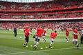 Arsenal Warm Up 2 Royalty Free Stock Photo