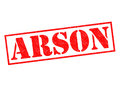ARSON Rubber Stamp Royalty Free Stock Photo
