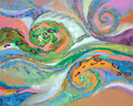 The art of abstraction colors and lines abstract paintings Stock Photos