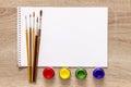 Art Album And Watercolor Paint