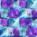 Art avant garde hand paint background blue purple seamless wallpaper watercolor abstract Stock Photography