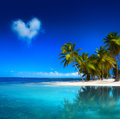Art  beautiful tropical beach seascape Stock Photos