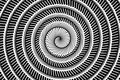 Art black and white spiral abstract pattern background Royalty Free Stock Photo