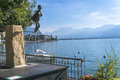 Art on the boulevard in montreux and lake of geneva Royalty Free Stock Image