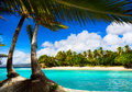 Art caribbean tropical sea  lagoon Royalty Free Stock Photo