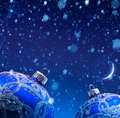 Art christmas decoration in snow Royalty Free Stock Photography