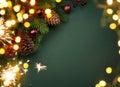 Art Christmas greeting card Royalty Free Stock Photo