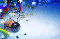 Art christmas and new year party background years Stock Images