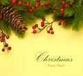 Art Christmas retro greeting card Royalty Free Stock Photo
