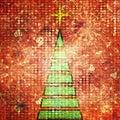 Art christmas tree Royalty Free Stock Image
