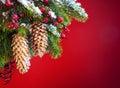 Art Christmas tree sheltered snow Royalty Free Stock Photo