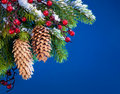Art Christmas tree sheltered snow Royalty Free Stock Photo