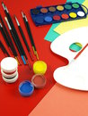 Art classes Royalty Free Stock Images