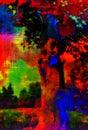Art colorful landscape astratto Fotografia Stock