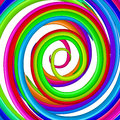 Art colorful rainbow glossy twirl. Abstract backgr Stock Images