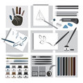 Art and craft elements – Drawing Royalty Free Stock Photography