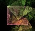 Art cubic space astratto Fotografia Stock