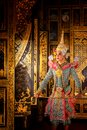 Art culture Thailand Dancing in masked khon in literature ramayana,Thai classical monkey masked, Khon,Thailand