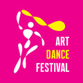 Art dance festival vector logo template Foto de archivo