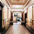 Art Deco apartment lobby Royalty Free Stock Photo
