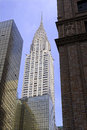 The art deco, architecturally significant Chrysler building in Midtown Manhattan Royalty Free Stock Photo