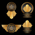 Art deco awards set of vector illustration Royalty Free Stock Photos