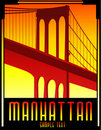 Art deco bridge vector Stock Image