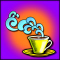Art deco coffee/tea graphic Stock Photos