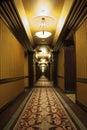 Art deco corridor largo Imagen de archivo libre de regalías