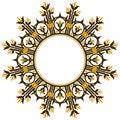 Art deco design element border Royalty Free Stock Image