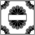 Art deco design elements collection border Royalty Free Stock Photo