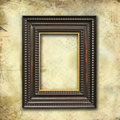 Art-deco empty frame on grunge texture Royalty Free Stock Photos