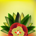 Art Deco Floral Background Stock Images