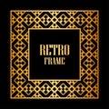 Art Deco Frame Royalty Free Stock Photo