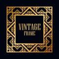 Art Deco frame border