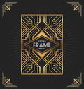 Art deco frame design for your design Royalty Free Stock Photo