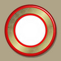 Art deco frame or plate Royalty Free Stock Photo