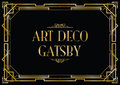 Art deco gatsby Royalty Free Stock Photo