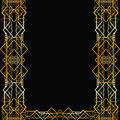 Art deco geometric frame s style Royalty Free Stock Photography