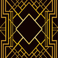 Art deco geometric pattern Royalty Free Stock Photo